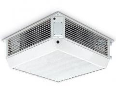 Air heaters are ceiling