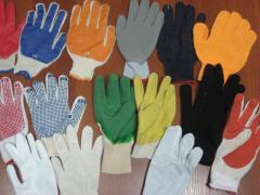 Перчатки трикотажные с ПВХ точкой и заливкой