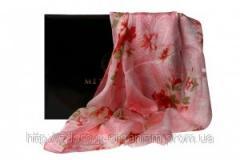Турмалиновый шелковый шарф