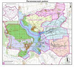 Административная карта районов Харьковской области