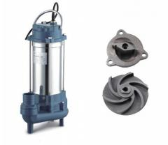 Fecal submersible pump with a grinder of Opera WQD