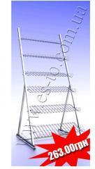 Стойка наклонная по выгодной цене от производителя   Торговая стойка наклонная с полками