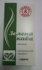 Coffee green with ginger, 250gr