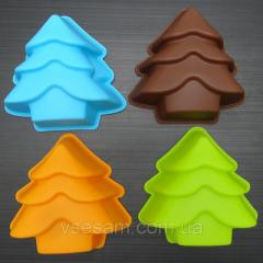 Silicone form New Year tree