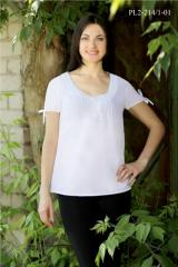 Easy summer cambric blouse of PL2-214-1