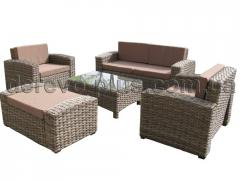 Set of furniture from a rattan artificial No. 27