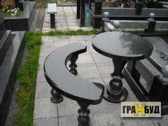 Гранитные столы и лавочки