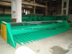 Harvesters for cleaning of sunflower of
