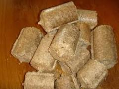 Nestro briquettes from wood, pod of sunflower and