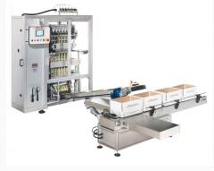 Многодорожечный вертикальный упаковочный автомат