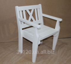 Chair white wooden
