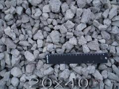 Щебень гранитный фр.20-40