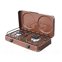The ELNA gas stove Taganok PG-2-N with cover