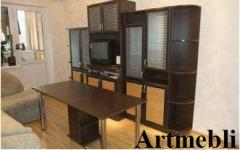 Стенка мебельная, ДСП-Венге, рамка, бамбук