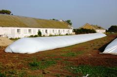 Plastic bags for storage of grain and a sil