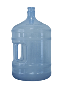 Large bottle with the handle of polycarbonate 18,9