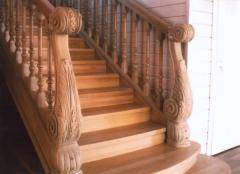 Hand-rail from an oak