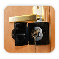 Pad on the door lock