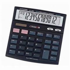 The calculator is electronic