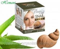 Face cream with extract of a snail. The effective