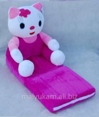 Детские плюшевые кресла-диван в наличии Hello Kity