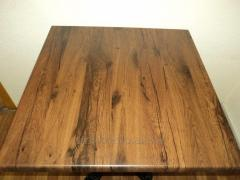 Table a bar Oak antique of stainless steel