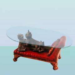 Стеклянный столик Кушетка
