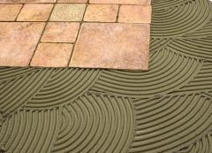 Tiled glue