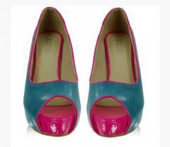 Двух-цветовые туфельки на 12-ти см каблучке