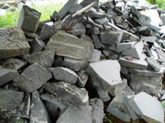 Stone rubble free of charge granite gray.