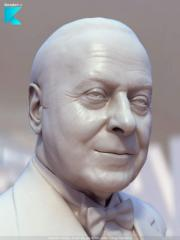 Bust, sculpture, on a photo, to order