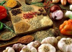 Mixes of dried vegetables for production and