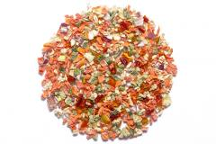 Mixes of dried vegetables for production of