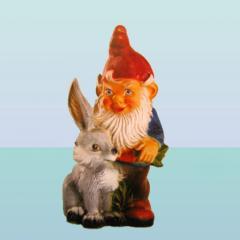 Садовая скульптура Гном с зайцем (М)
