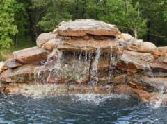 The falls are decorative