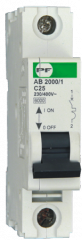 Automatic AB2000 switch 1P C 10A 6 of kA, modular
