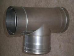 Трійник 87° для димоходів з нержавіючої сталі