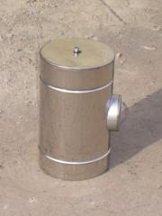 Audit, watering can, cap for flues from stainless steel