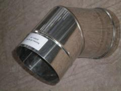 Knee 45 ° for flues from stainless steel