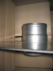 Termination of a flue, stainless steel
