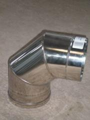 Knee 90 ° for flues from stainless steel