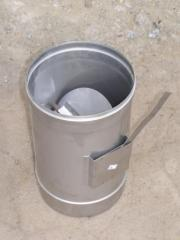 Regulator of draft of a flue, stainless steel