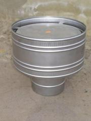 Volper, the deflector for flues and ventilation, stainless steel