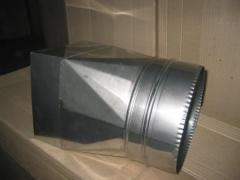Transition for flues from stainless steel