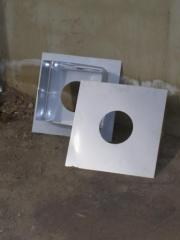 Pass through overlapping for a flue, stainless