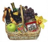Наборы подарочные: фрукты в корзине