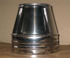 Cone for double-walled flues