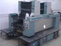 Offset two-colourful Roland PRZ 00 printing