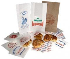 Бумага для упаковки продуктов в листах. С печатью