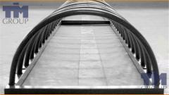 Frameworks metal for greenhouses